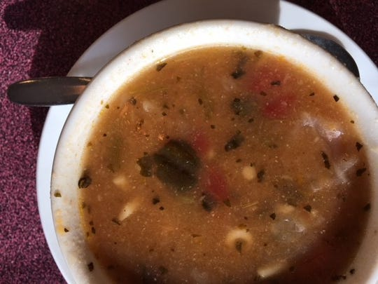 Olympia's menu almost rivals the size of The Cheesecake Factory's, with many soup choices. You can't go wrong with the minestrone, though.