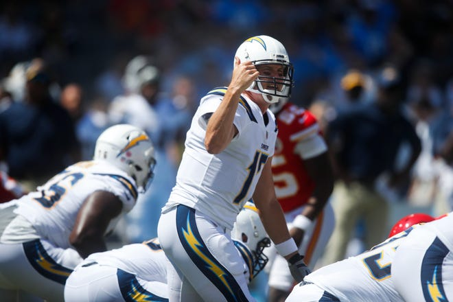 Los Angeles Chargers quarterback Philip Rivers is 5-1 lifetime against the Buffalo Bills with 10 TDs, one interception and a 110.1 QB rating.