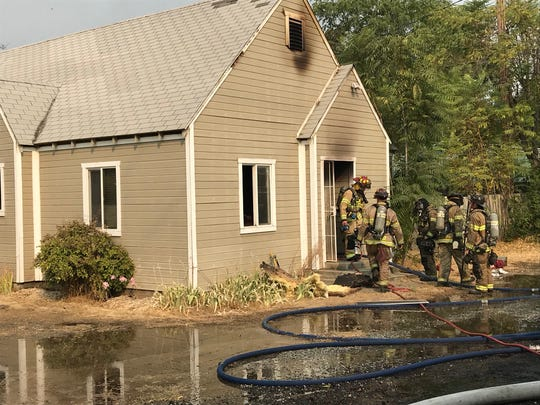 A fire on the 6200 block of Westside Road broke out Tuesday morning.