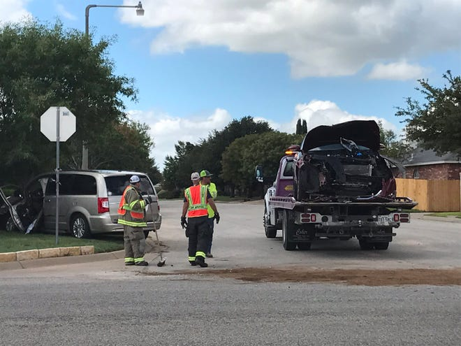 A crash in the 4400 block of Southland Boulevard in San Angelo sent two women to the hospital Tuesday, Sept. 11, 2018.