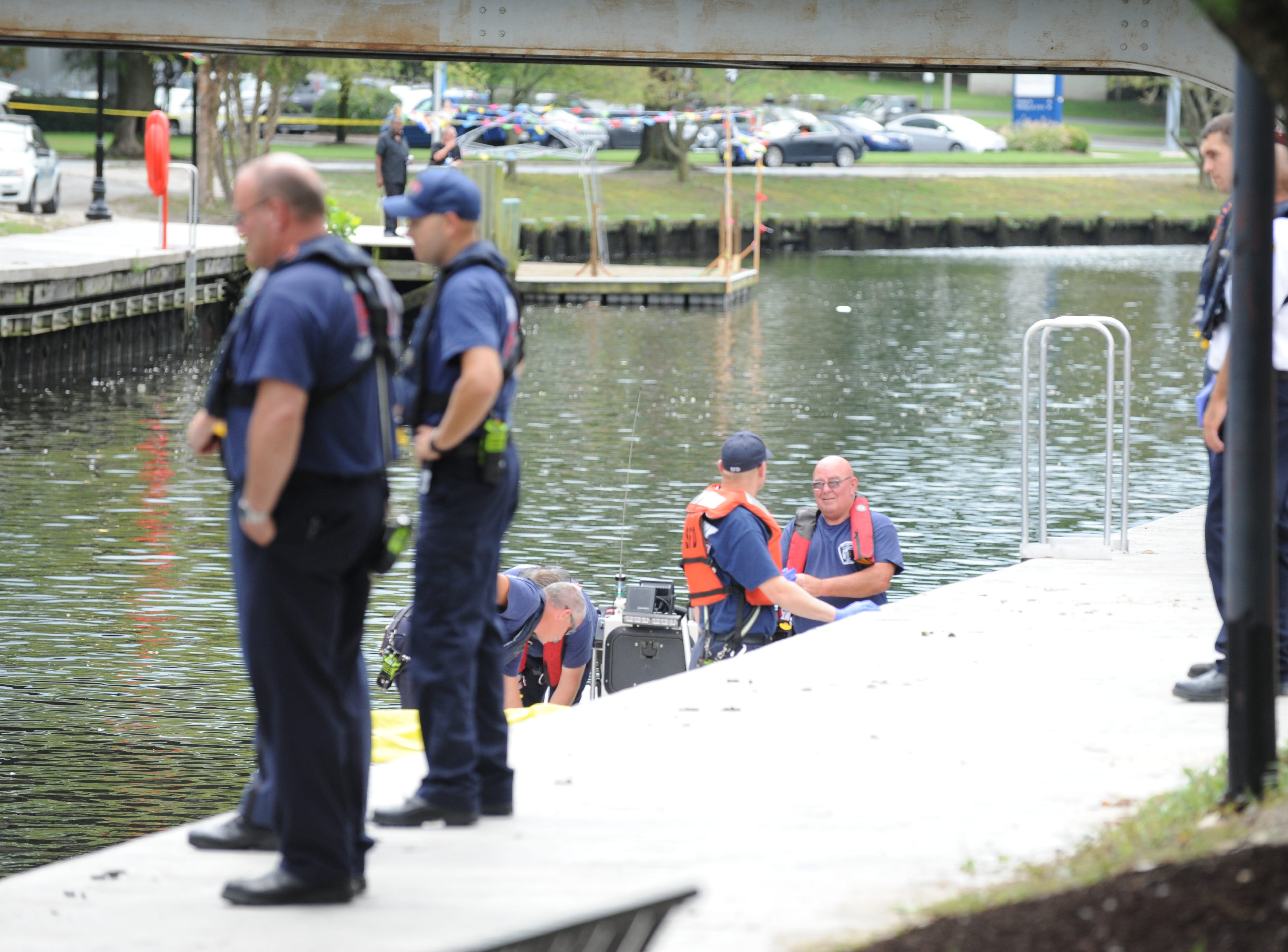 Officers respond to a body located in the Wicomico River.