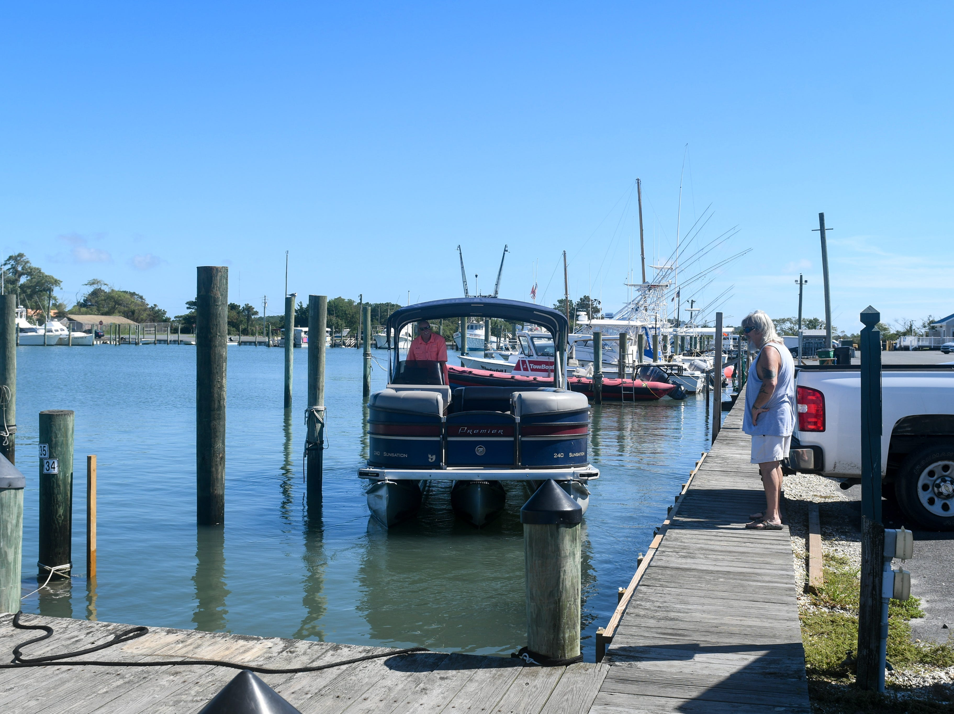 Tours were still leaving out of the Chincoteague Island harbor on Tuesday, Sept. 11. The island is part of the state's zone A evacuation that was issued in advance of Hurricane Florence, but local officials have not yet asked residents to leave.