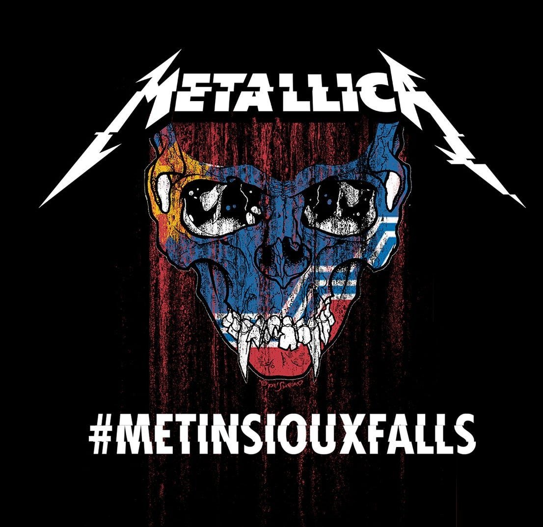 Sioux Falls' new flag goes full metal in Metallica logo