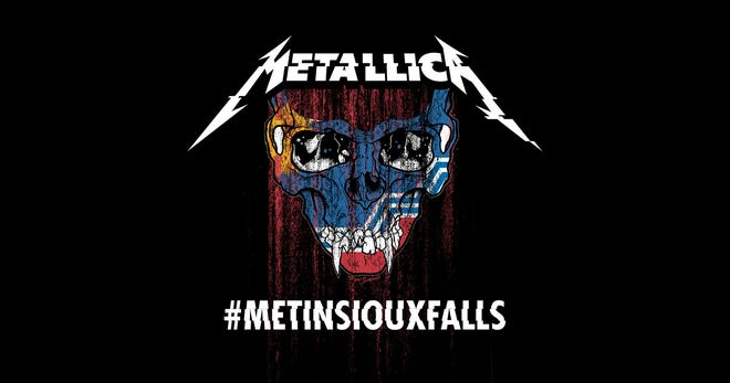 A promo image for Metallica's concert in Sioux Falls on Sept. 11, 2018.