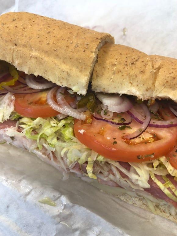 A Gregg's Substation sandwich.