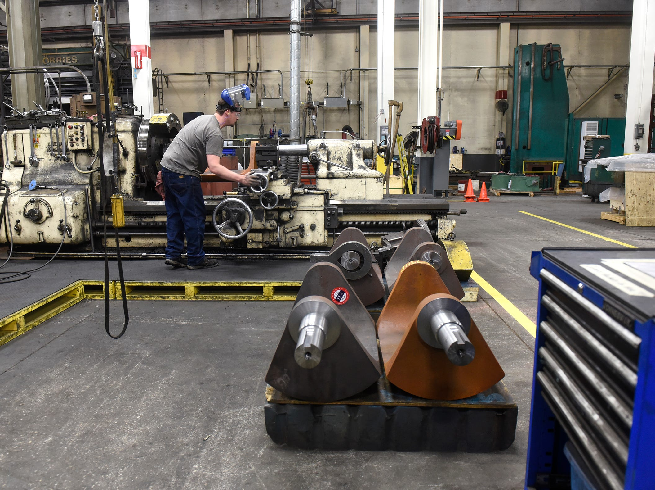 Valves are manufactured Monday, Sept. 10, at the DeZURIK plant in Sartell.