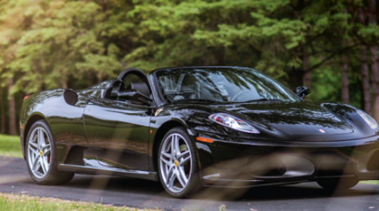 The 2007 Ferrari F430 Spider is one of the most elite and expensive cars at Morrie's Heritage. It is rentable for $700 a day and only by people holding a Morrie's Heritage membership.