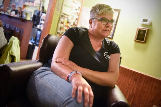 Kristine Brugh talks about the process behind opening her business, Spa Nala, during an interview Tuesday, Sept. 4, in St. Joseph.
