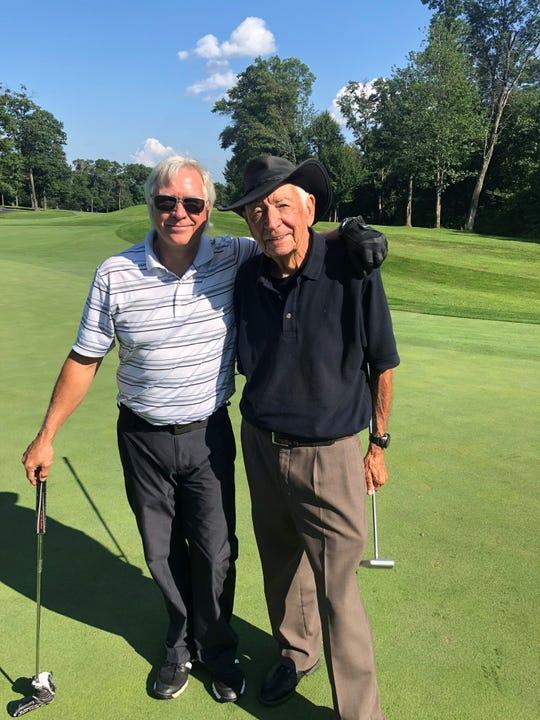 David Chapman and 95-year-old father Bud Chapman