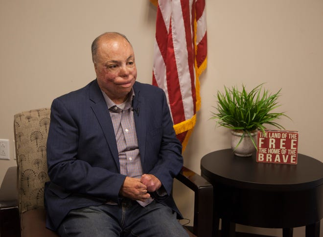 Israel Del Toro speaks at the Southern Utah Veterans Home about his life, the challenges he's faced since his injury and how he has stayed motivated through it all Tuesday, Sept. 11, 2018.