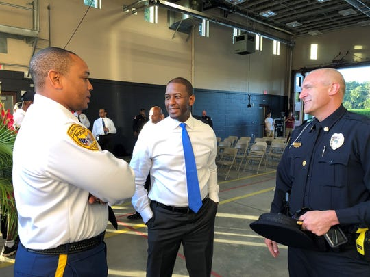 Mayor Andrew Gillum at the 2018 Tallahassee Fire Department  911 Memorial observance