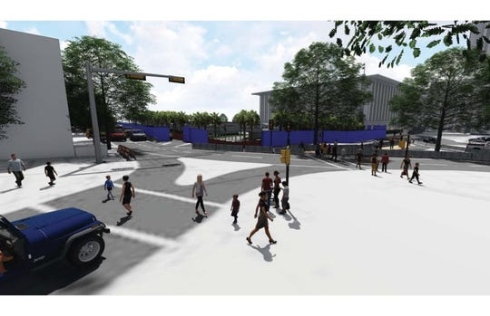 Rendering of the intersection at Jefferson St.