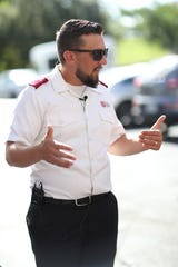 The Salvation Army's Lt. Ryan Meo details the plan of action for the Disaster Relief volunteers before they depart from the local Salvation Army in 2018. The Salvation Army is offering preparedness training for faith leaders on July 27