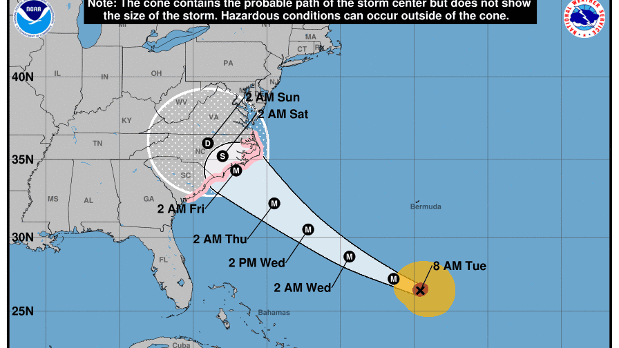 Hurricane Florence Weather Tracking The Storm S Path To The East Coast