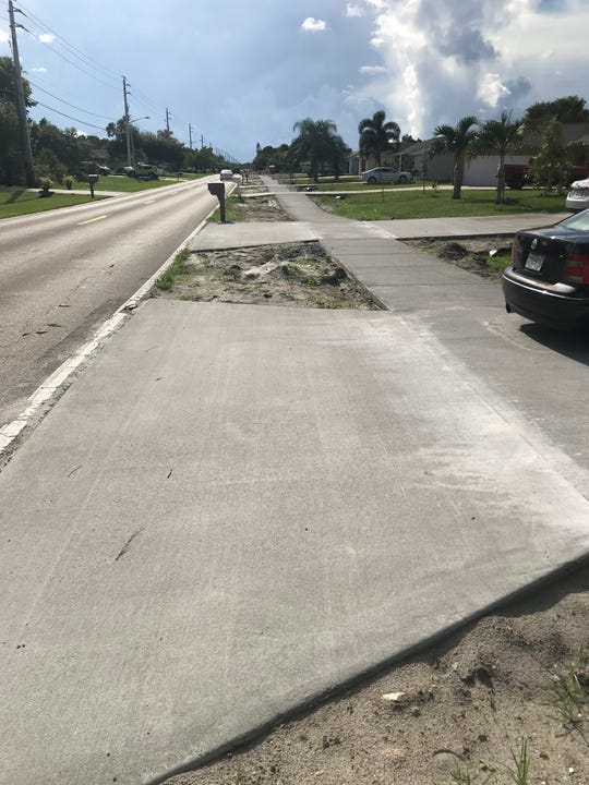 Port St. Lucie is constructing sidewalks on the north side of Oakview Drive. That sidewalk will connect to a new sidewalk across the C-24 Canal bridge to the Southbend Lakes neighborhood.
