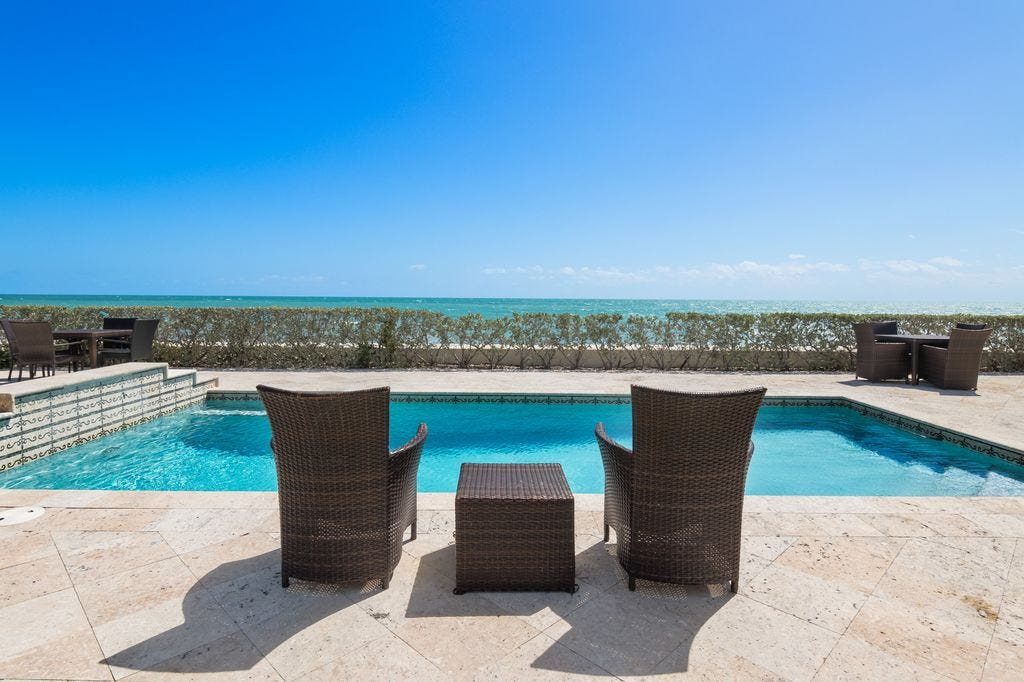Poolside Looking At The Ocean At Villa Floramar, A $3 Million Oceanfront  Estate, In Vero Beach. (Photo: CONTRIBUTED BY UNEEK)