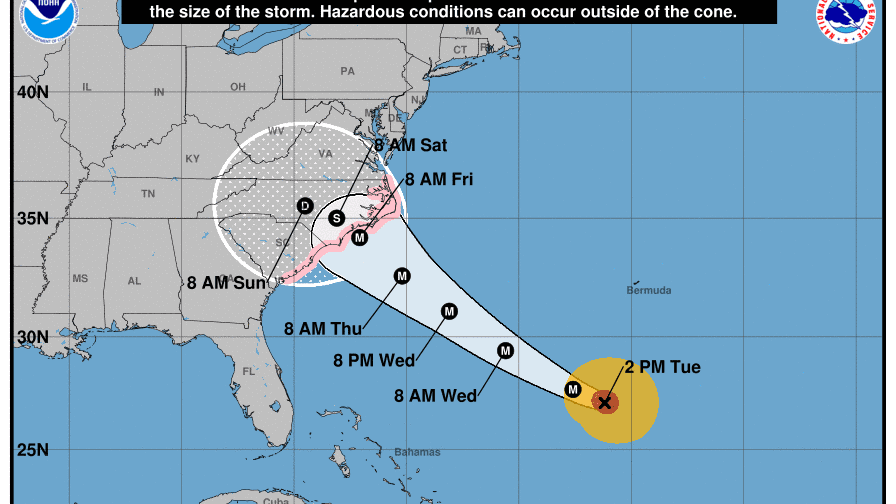 Hurricane Florence to bring 9 foot swells to Treasure Coast beaches