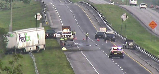 Fatal crash on Florida's Turnpike north of State Road 60 Sept. 11, 2018.