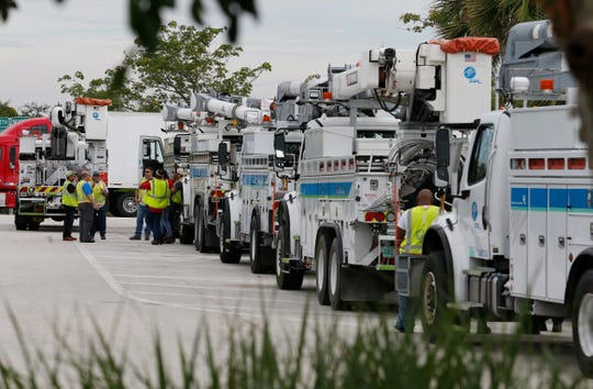 More than 500 FPL employees and contractors left South Florida to help restore power to the Carolinas that are anticipated to be impacted by Hurricane Florence.
