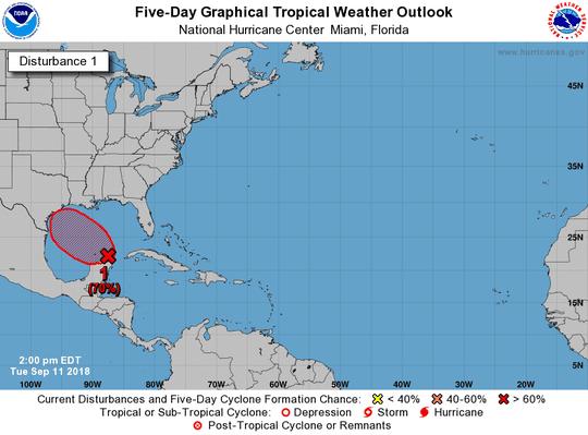 Tropical wave 2 p.m. Sept. 11, 2018.