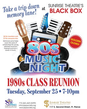 On Sept. 25, the Sunrise Black Box Theatre will come alive with '80s Music Night.