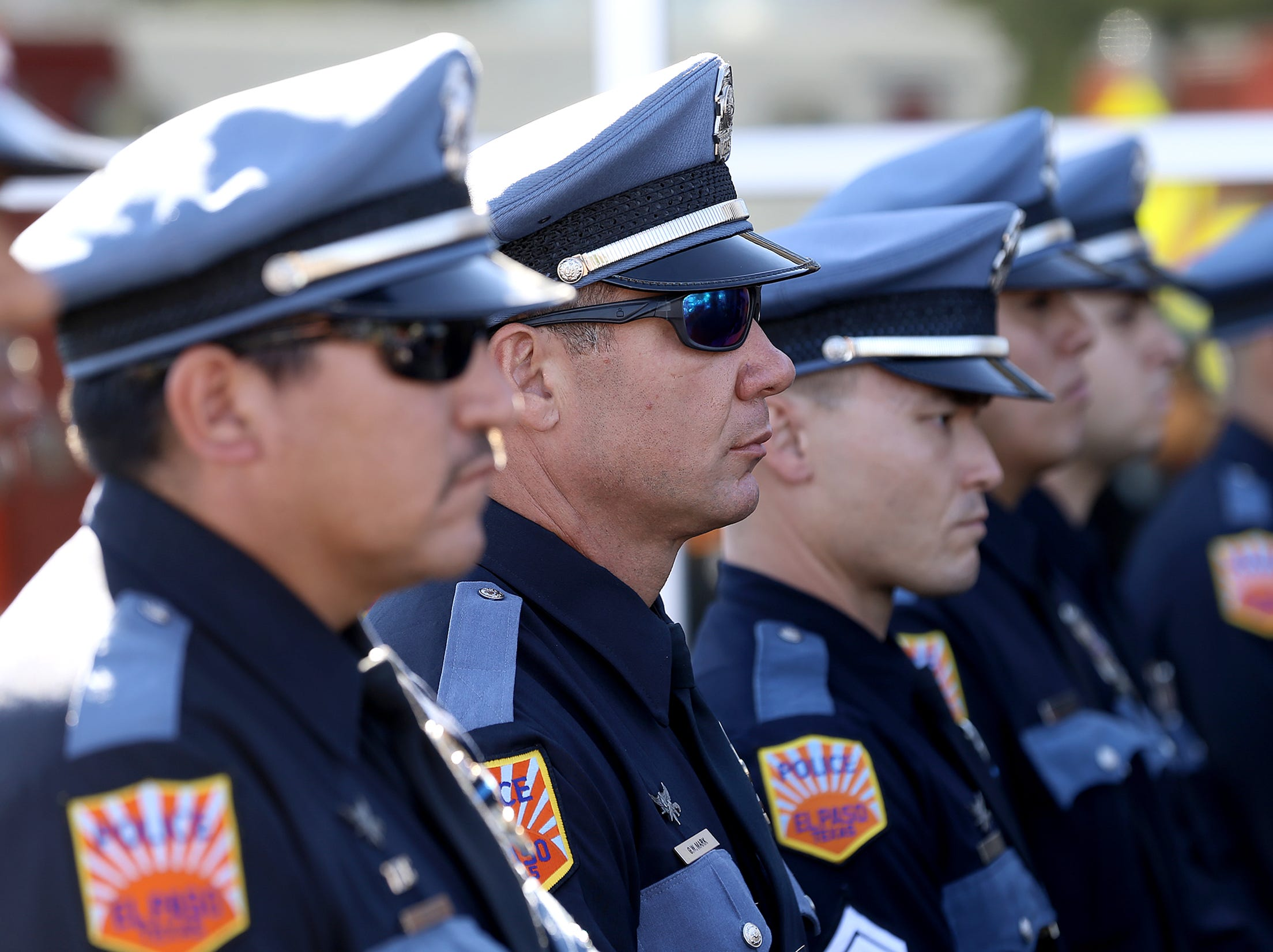 El Paso Police officers attended the 9/11 Memorial Ceremony Tuesday at Fire Station 18.