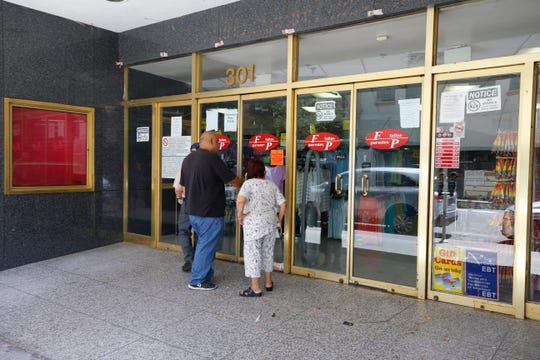 """The historic building that once housed The Popular department store, now home to a Fallas discount store, was declared an """"imminent danger"""" by the El Paso Fire Marshall's office."""