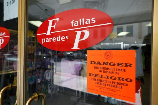 "The historic building that once housed The Popular department store, now home to a Fallas discount store, was declared an ""imminent danger"" by the El Paso Fire Marshall's office."