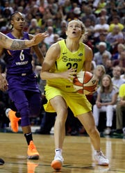 Buena High graduate Sami Whitcomb is averaging 6.2 points per game in the playoffs for the Seattle Storm, who are one win away from winning the WNBA championship.