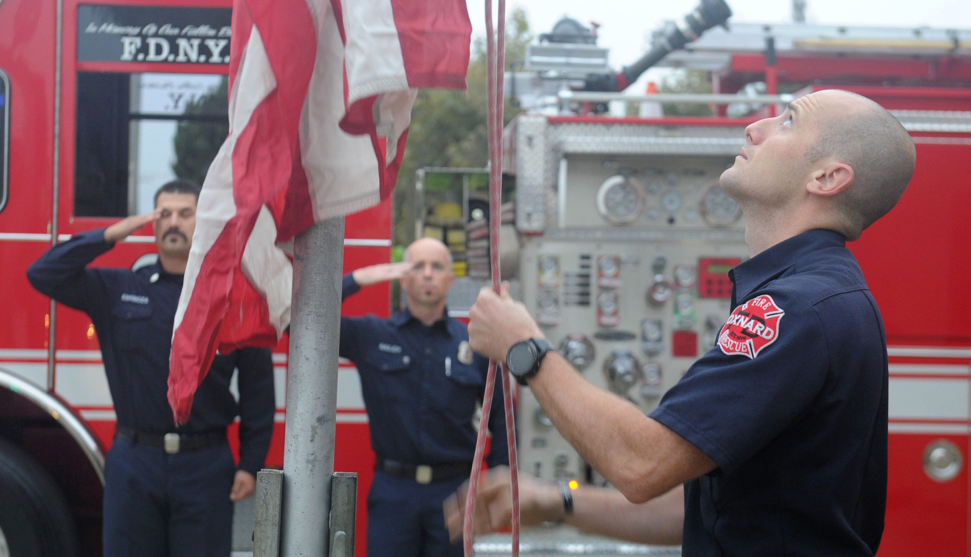 Fire agencies around Ventura County commemorated the 17th anniversary of the Sept. 11 terror attacks in New York, Washington, D.C., and Pennsylvania.