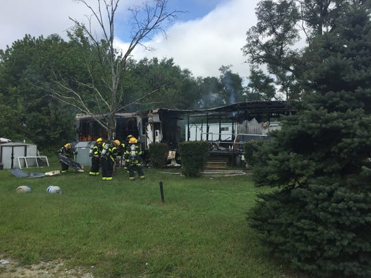 A blaze at Redwood Court Mobile Home park gutted a residence on Sept. 11, 2018.