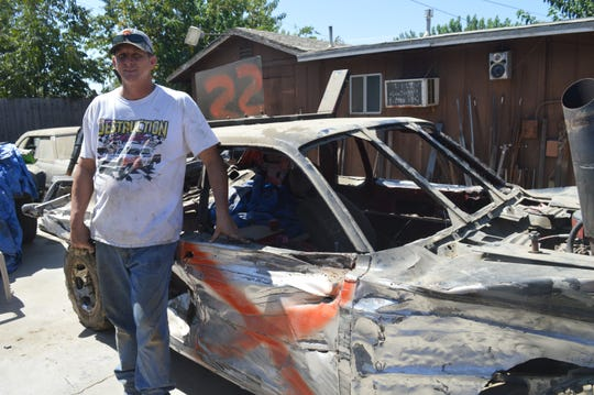 Gary Flack will participate in the Tulare County Fair Destruction Derby.