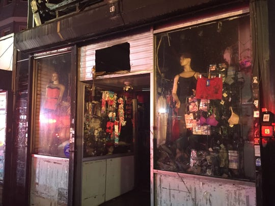 A dry-cleaning business on Park Hill Avenue in Yonkers was damaged in a fire on Sept. 11, 2018.