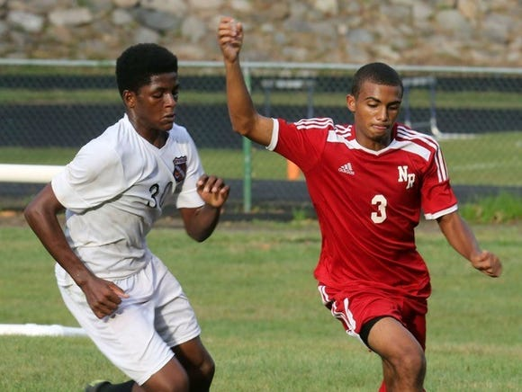 North Rockland's Kenji Harper, pictured to the right, is the lohud boys soccer Player of the Week.