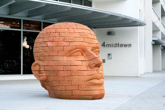 """Haverstraw artist James Tyler who created this brick sculpture will be one of the featured artists in ArtsWestcheser's """"Brick by Brick: The Erie Canal and the Building Boom."""" The exhibit will be on view Oct. 2-Jan. 19."""