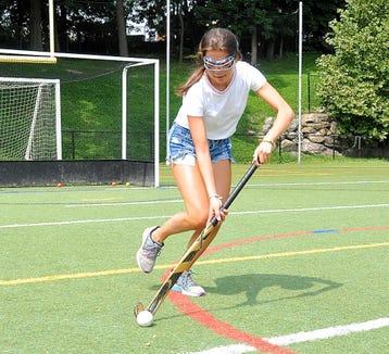 Mamaroneck's Brigid Knowles dribbles ball during a preseason practice.