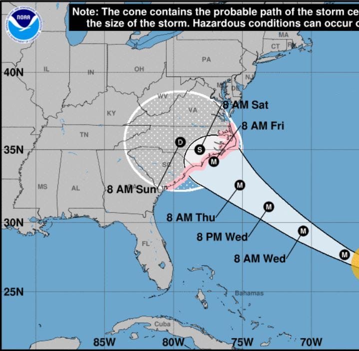 Huracán Florence: Evacuación ordenado en áreas costeras de South Carolina