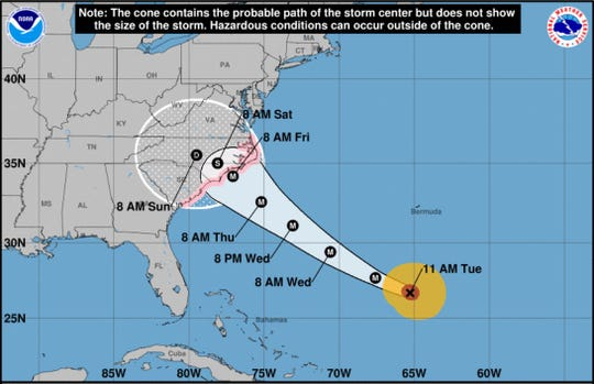Hurricane Florence is still expected to slam into North Carolina later this week.