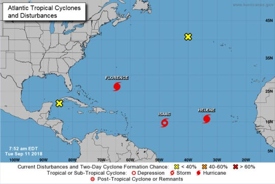 It is a busy week for storms in the Atlantic Ocean.