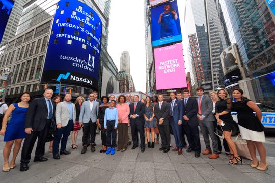 Delaware native and 2005 University of Delaware graduate Ryan Bonifacino helped ring the opening bell at the Nasdaq Stock Exchange Tuesday, part of a group that traveled to New York to honor the victims of the 9/11 terrorist attacks.