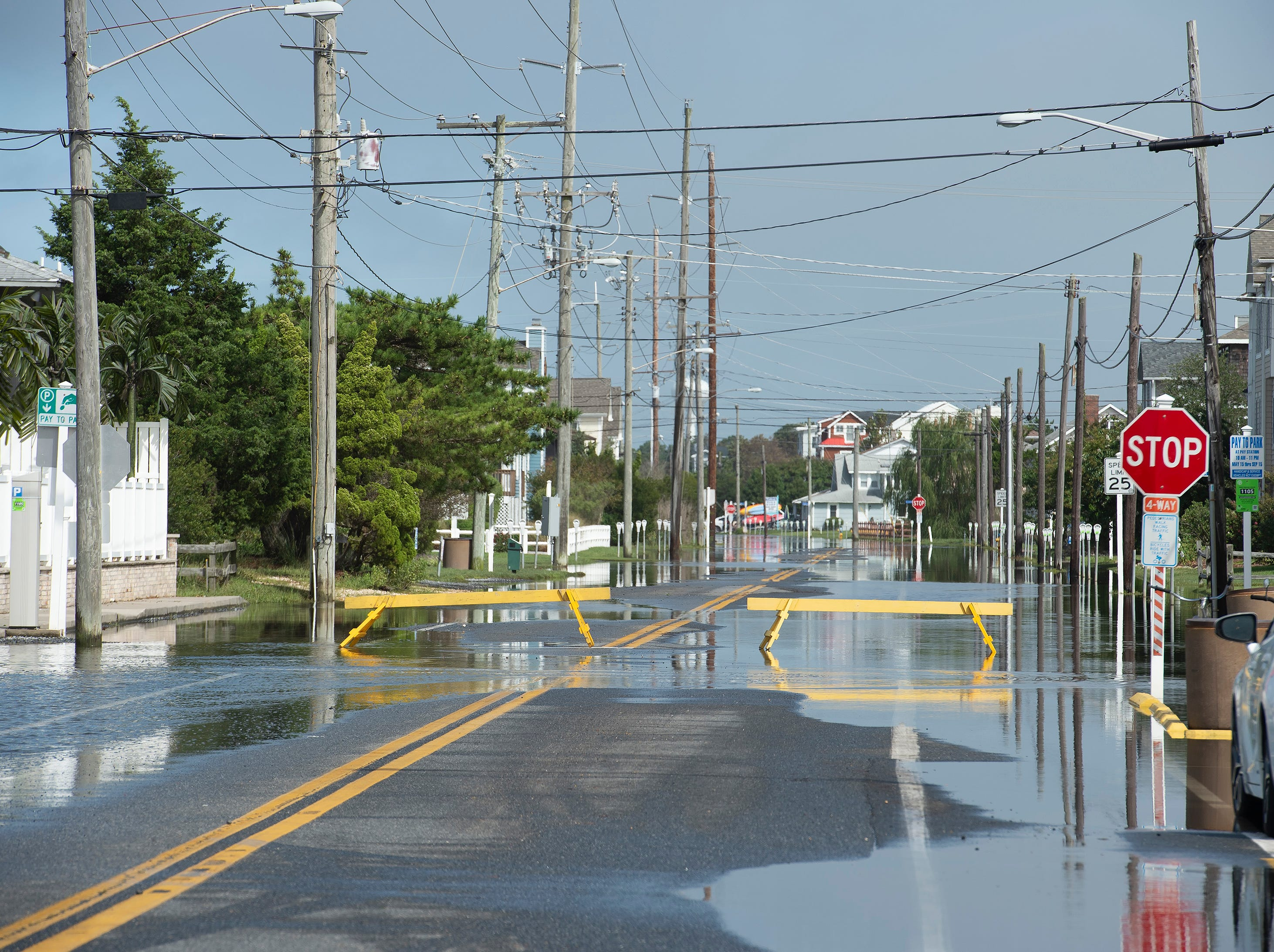 Standing water along Pennsylvania Avenue in Bethany Beach.
