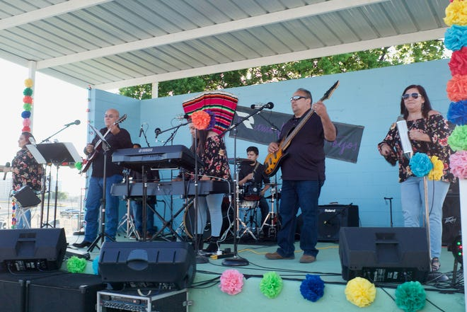 Area band Ritmo de Hoyos will perform at the annual Fiestas Patrias event at 8 p.m. Saturday. The event runs from noon to midnight at Our Lady Guadalupe Church at 421 Marconi and is free to attend.