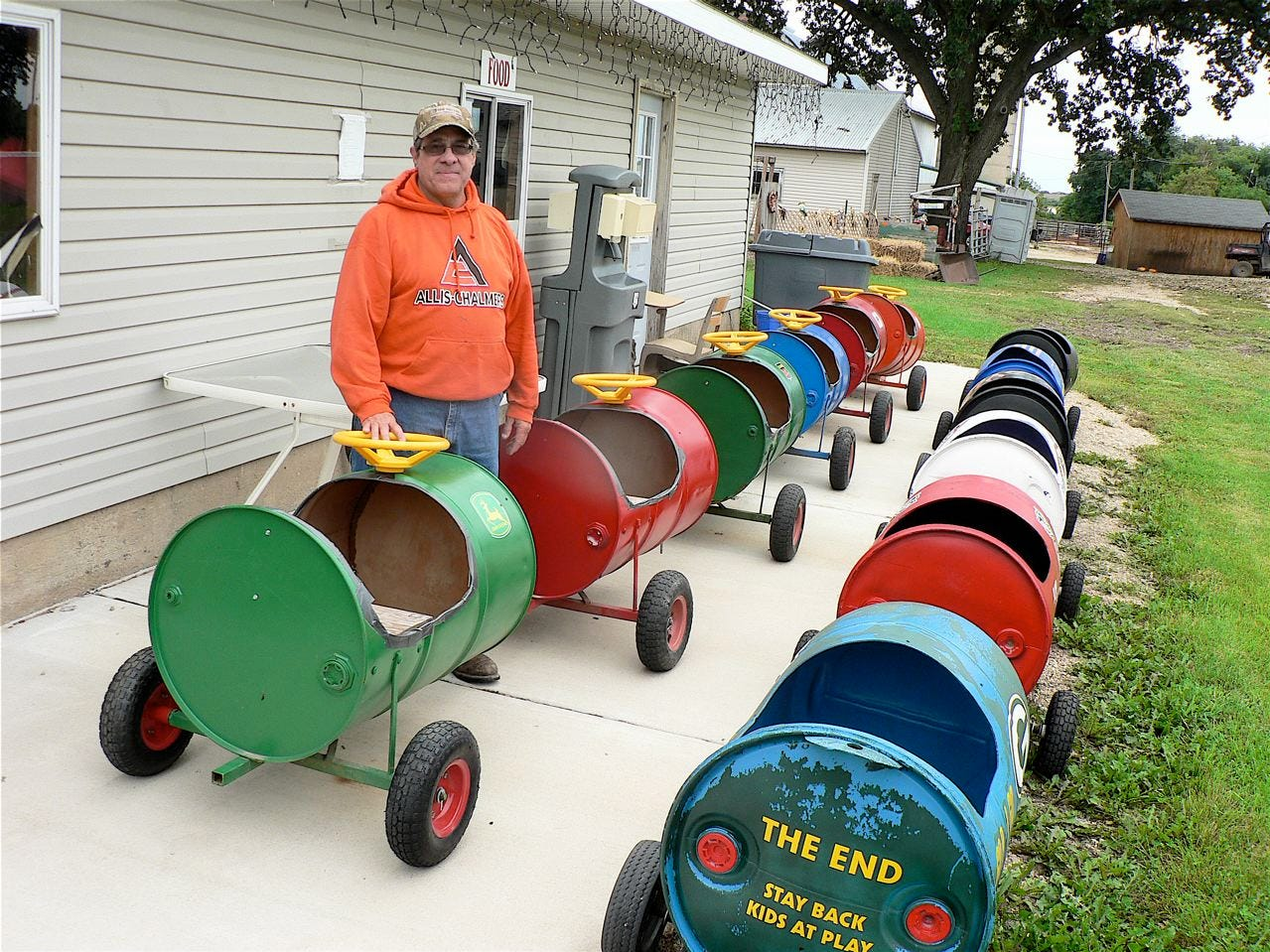 """The """"Barrel train"""" is ready to go."""