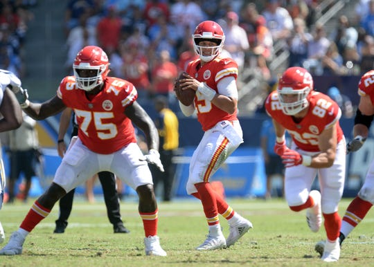 Patrick Mahomes earned AFC Player of the Week after passing for four touchdowns in an opening week win over the Chargers.