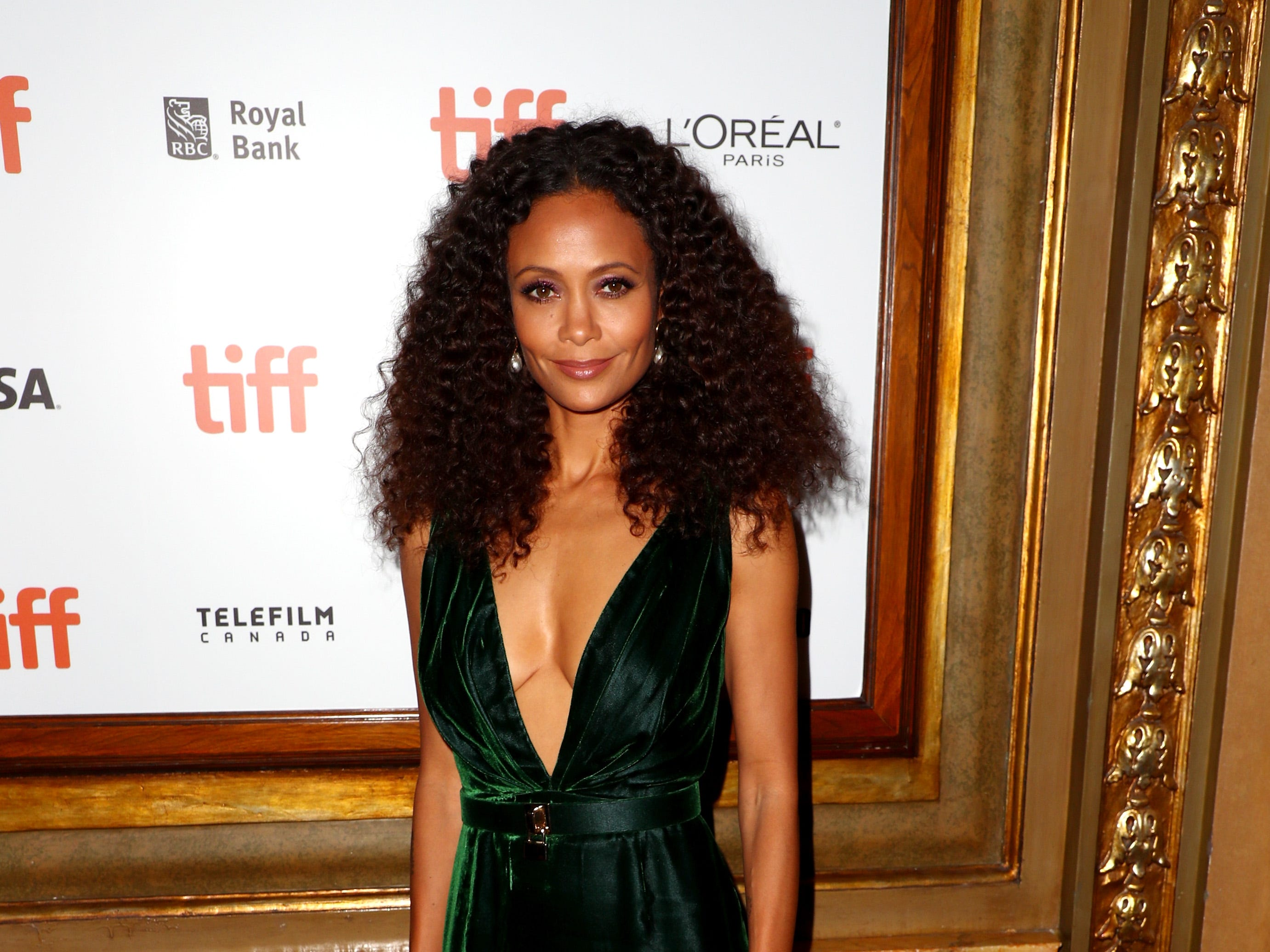 "TORONTO, ON - SEPTEMBER 10:  Thandie Newton attends the ""The Death And Life Of John F. Donovan"" premiere during 2018 Toronto International Film Festival at Winter Garden Theatre on September 10, 2018 in Toronto, Canada.  (Photo by Joe Scarnici/WireImage) ORG XMIT: 775218789 ORIG FILE ID: 1030974026"