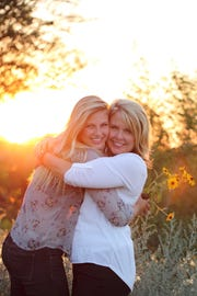 Angela Kennecke, right, with her daughter Emily.