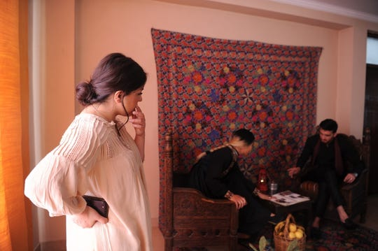 Fashion designer Rahiba Rahimi is at a photoshoot for her label, Laman.