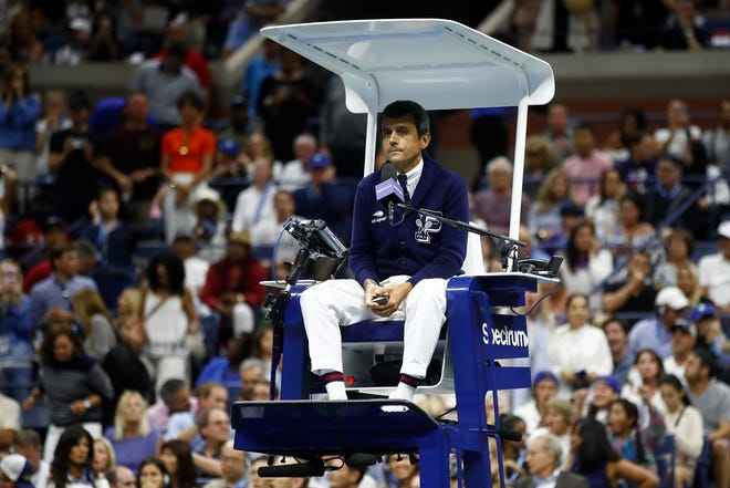 Carlos Ramos was the chair umpire for Saturday's controversial US Open women's final between Serena Williams and Naomi Osaka.