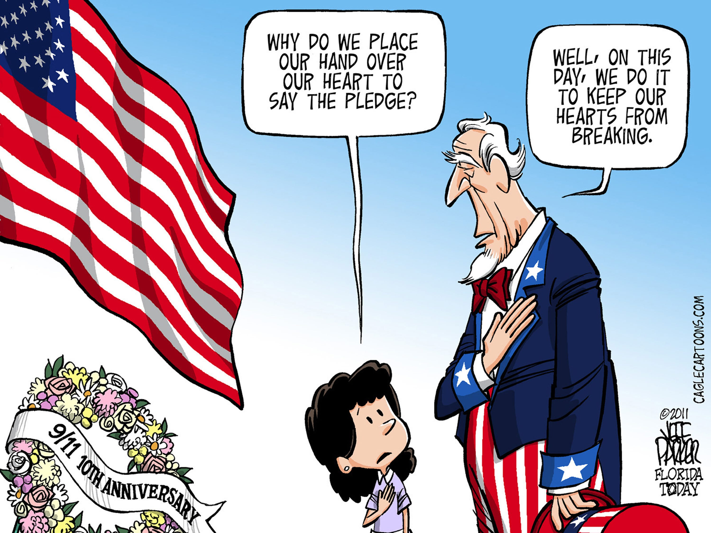 First published for Sept. 11, 2011. The cartoonist's gallery, floridatoday.com/picture-gallery/opinion/2014/10/29/classic-jeff-parker-toons-crist-and-scott/18126175