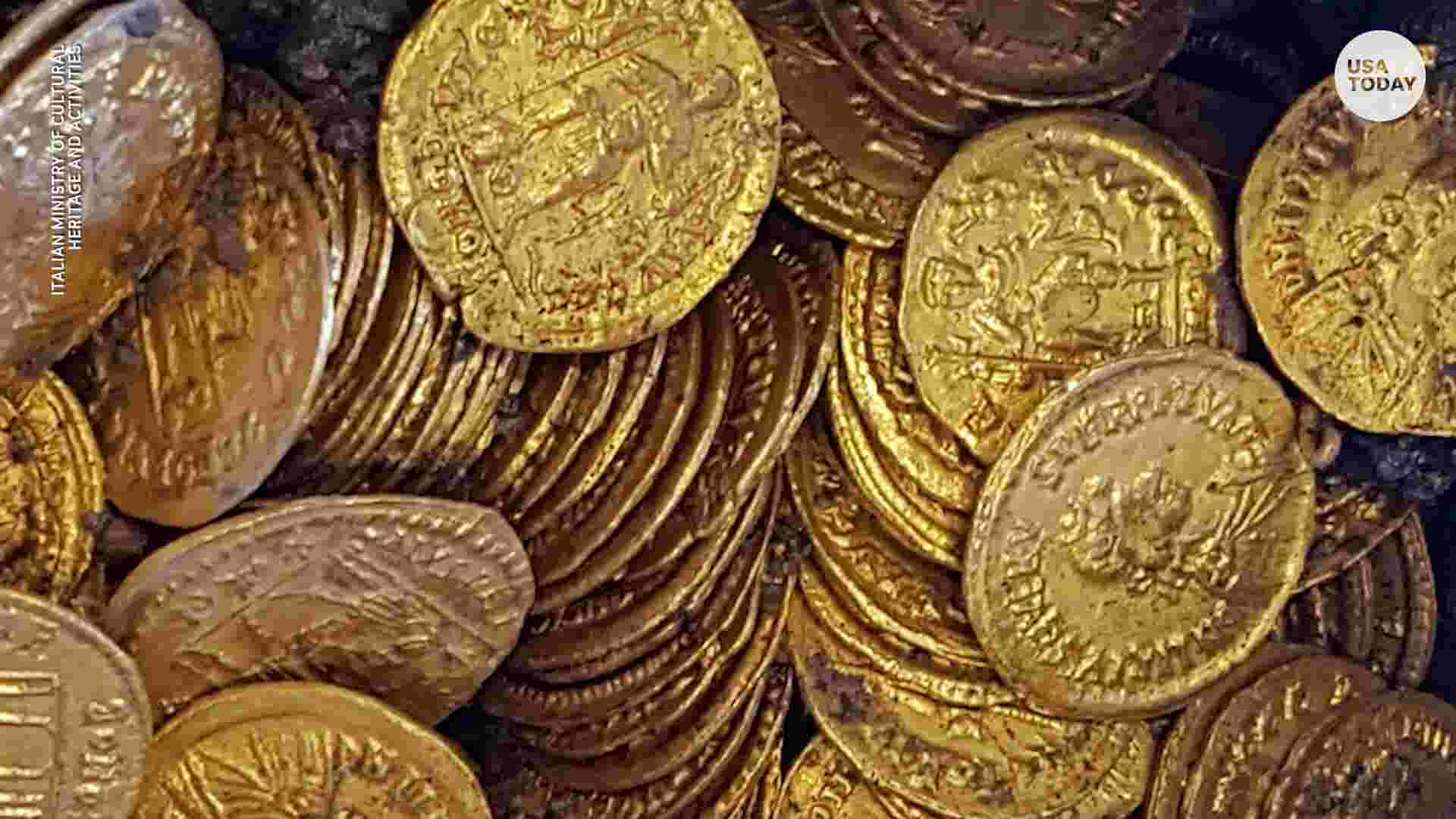 Hundreds of rare gold coins found at construction site